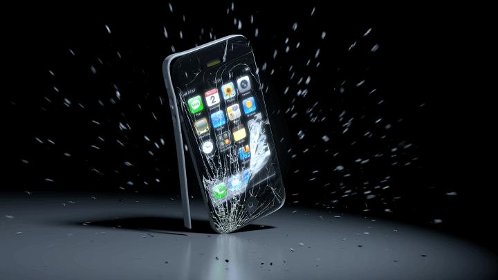 Формула падающего смартфона
