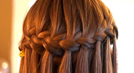 Как плести косу от виска к виску